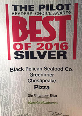 Reader's Choice Award: 2016 Silver - Best Pizza