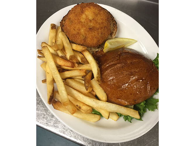 Lunch Menu  - Crabcake Sandwich